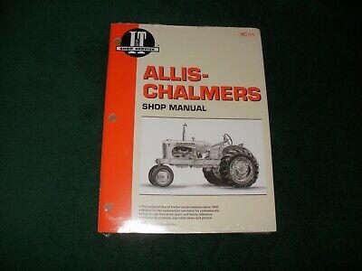Allis-chalmers Shop Manual Ac-11 Models Bccagrcwcwdwd45wd45dieselwf