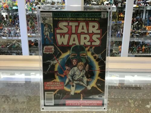 "STAR WARS #1 - MARVEL COMICS 7/77 - PART 1 OF ""STAR WARS"" A NEW HOPE"