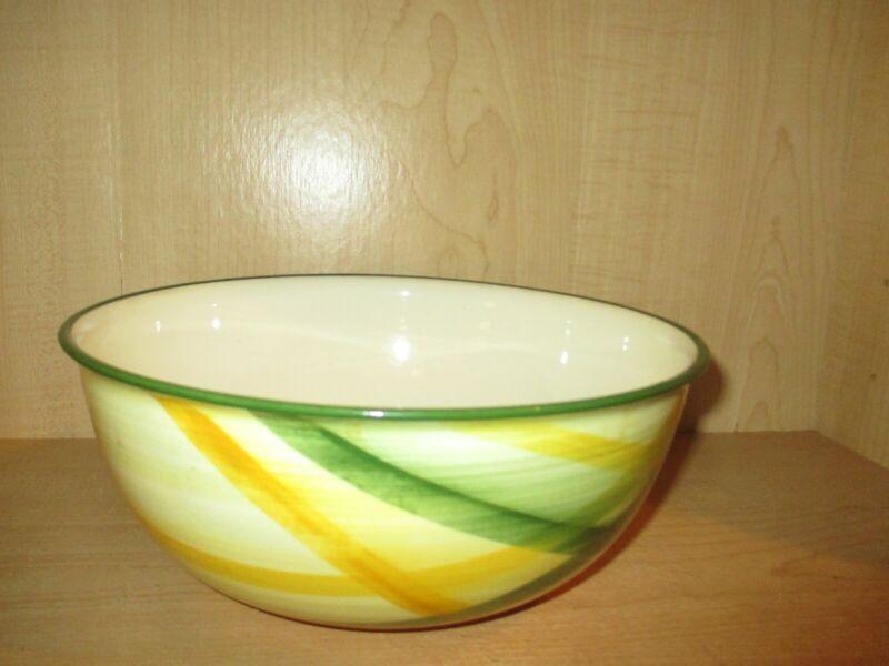"Vernon Kilns Vernonwae Gingham Plaid 10"" Lg. Salad Serving Bowl ""Rare"" 1949-1958"