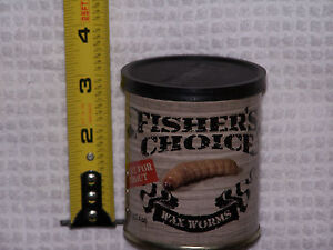 FISHER'S CHOICE CANNED BAIT - WAX WORMS - 300+ per CAN