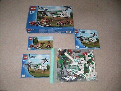 Used Lego City Cargo Heliplane Complete, 60021, Inc Box & Manuals