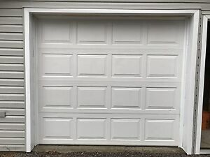 7x8 white insulated garage door