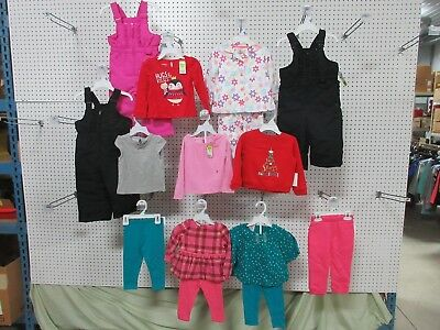 12 GIRLS 18 MONTH CLOTHING TOP PANTS SHIRTS SWEATER SWEATS SNOWSUIT PJ OUTFIT