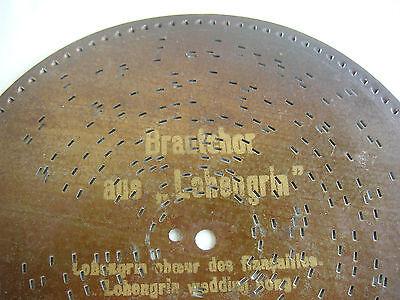 Monopol Platte 21,8cm disc Symhonium Kalliope Polyphon antique discs music box