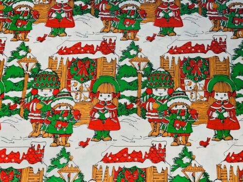 Vintage Christmas Gift Wrapping Paper Sheets 1960's 1970's K