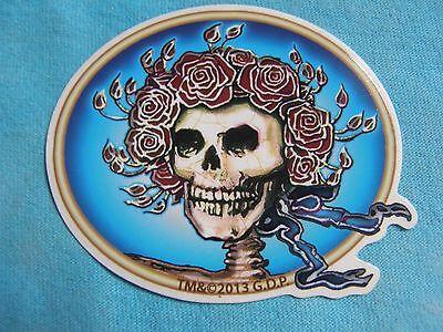 Grateful Dead Bertha Skull & Roses MINI 3 Inch Sticker - Dead Rose