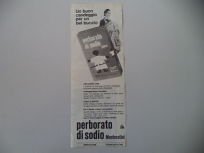 advertising Pubblicità 1965 PERBORATO DI SODIO MONTECATINI