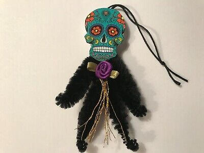 Halloween sugar skull ornaments, catrina doll vintage image gift tags, item# 35 - Halloween Catrina