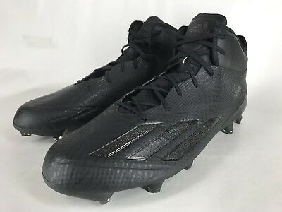 761bc8a3ce1c7f adidas Adizero 5-Star 5.0 Mid Mens Football Cleats Blackout Black size 15  NEW!