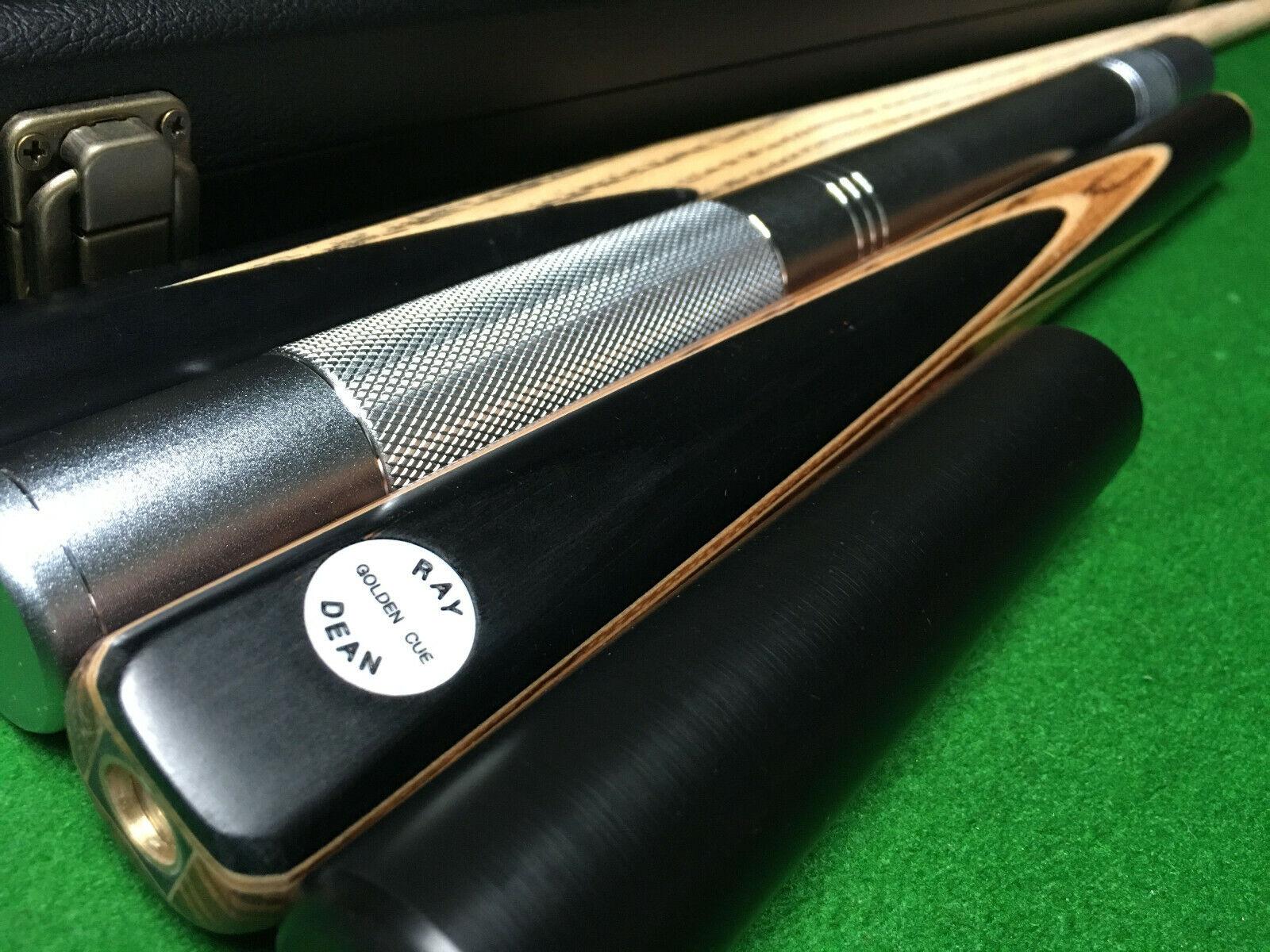 New 3/4 Handmade Ash Ebony Snooker Cue Pool Cue set N Case Extension 9mm Tip