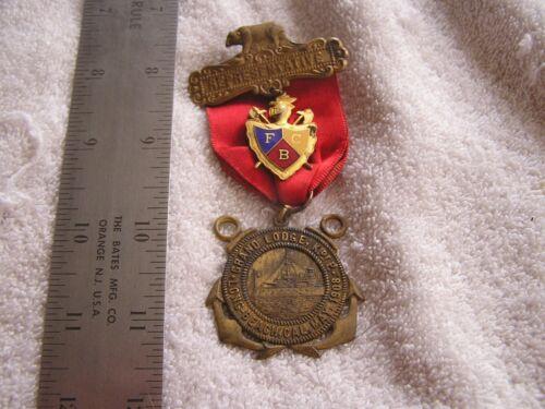Antique 1908 Grand Lodge Medal Ribbon Representative Long Beach California