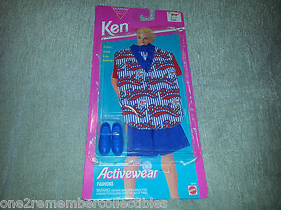 "BARBIE Doll KEN Activewear Fashions BASEBALL OUTFIT 11"" Clothes 1993 MATTEL New"