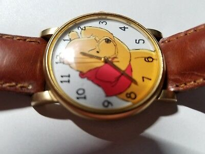 Vintage Winnie the Pooh Disney Timex Wrist Watch with Leather Band