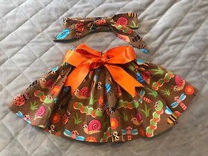 Handmade Baby Girls Skirt and Headband Up To 6 Months ~ Big Theme ~ 🐛