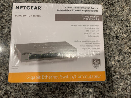 Netgear SOHO Series 8Port Gigabit Ethernet Switch GS308-100P