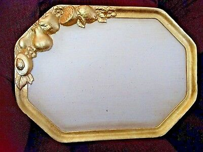 Large Serving Tray in Gilt Wood Made in Italy 18.5
