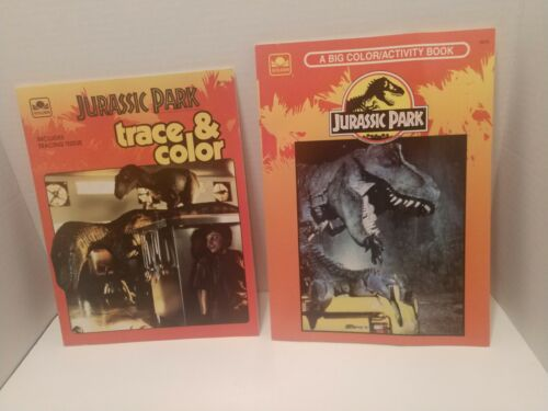 2 Jurassic Park Vintage Coloring Books- Not Used  - $10.50