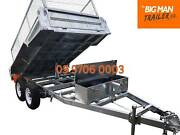 3.5T GVM 10×5 HYDRAULIC TIPPER GALVANISED TRAILER WITH MESH CAGE Dandenong Greater Dandenong Preview