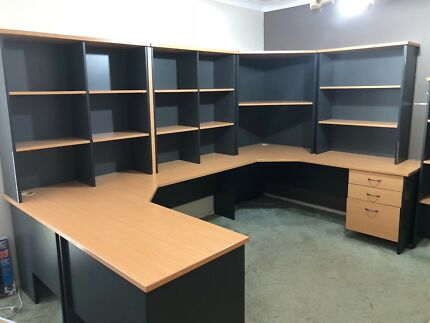 Office Desks With Hutches And Cupboards