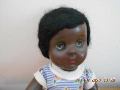 Vintage 1950s Rosebud Hard Plastic Black Teenage Doll   FAB
