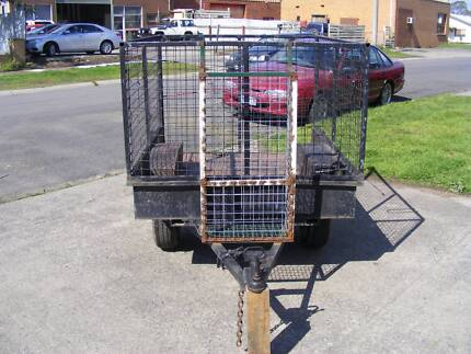 TRAILER 5 FT X 4 FT CAGE INCLUDED EASY TO TOW BARGAIN PRICE Morwell Latrobe Valley Preview