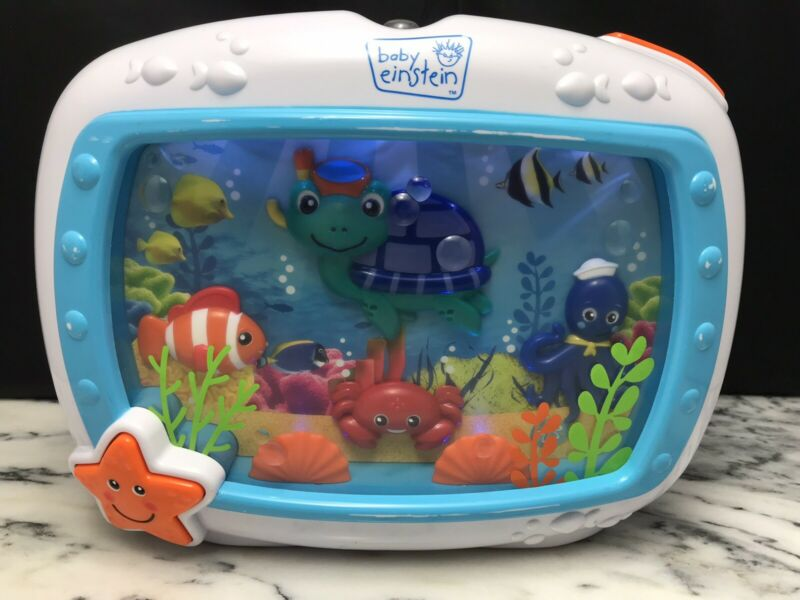 Baby Einstein Ocean Aquarium Sea Dreams Soother Crib Toy Lights Music Motion