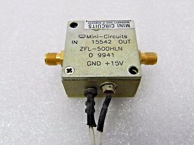 Mini-circuits Zfl-500-hln Rf Amplifier Frequency