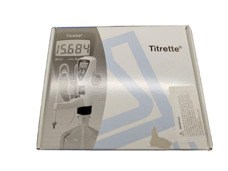 NEW ! BrandTECH Titrette Electronic Bottletop Titrator w/o RS232, 25ml, 4760151