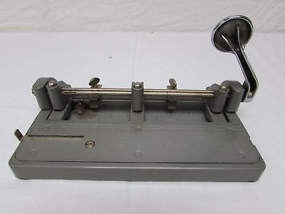 Vtg Wilson Jones Hummer Metal 3 Hole Punch Adjustable Paper Usa 314 Heavy
