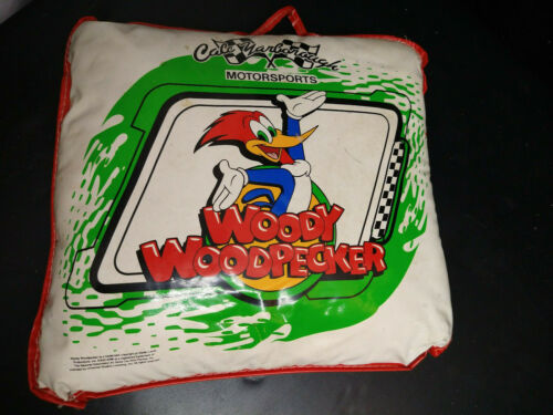 Woody Woodpecker pillow seat cushion vintage Cale Yarboraugh Nascar Motorsports