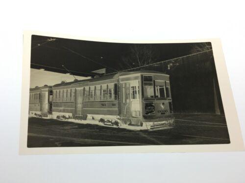 1947 PTC PHILADELPHIA TRANSPORTATION CO. TROLLEY NEGATIVE #6690 GERMANTOWN PA