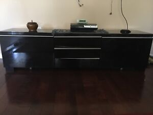 Black TV stand/ table with drawers