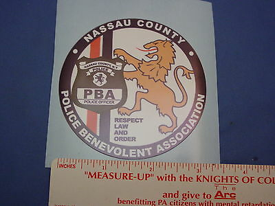 NASSAU COUNTY PBA NY  DECAL (OUTSIDE)   PBA DECAL  NEW DECALS