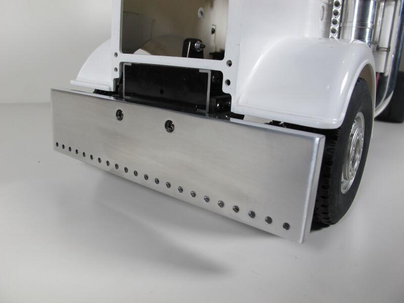 Aluminum Front Bumper predrill Mounting hole Tamiya 1/14 Semi King Grand Hauler
