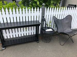 FREE - Furniture - hallway table, bedside table, leather chair