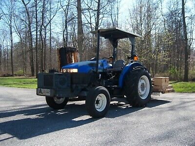 New Holland Tn70 Tractor With Alamo Flail Mower And Woods Three Point Mower 69hp