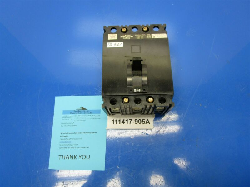 Square D FAL36060 Motor Protection Breaker Out Of New OS Model 4 MCC Buckets