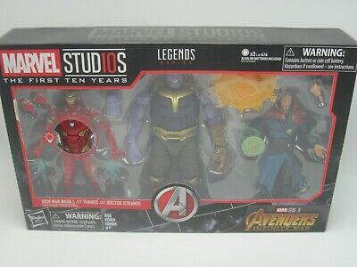 Marvel Studios First Ten Years Marvel Legends Iron Man Thanos Doc Strange 3 Pack