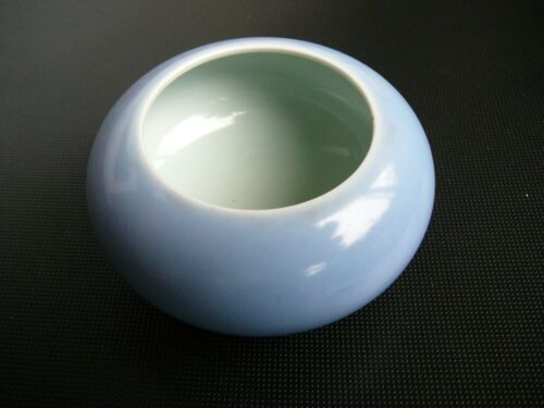 Chinese Antique Tripod Celeste/Lavender Blue Porcelain Brush Washer Bowl.