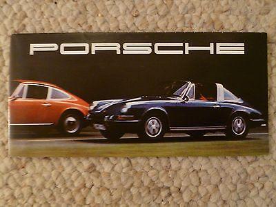 1968 Porsche 911- T/E/S & 912 Showroom Advertising Folder / Brochure RARE Stamp
