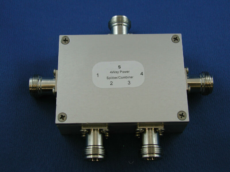 RF 4 Way Power Splitter/Combiner 2.4Ghz N Female