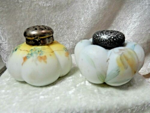 Antique Hand Painted Porcelain Shakers Lot of two