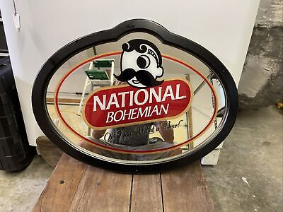VINTAGE NATIONAL BOHEMIAN BEER NATIONAL BEER BOH WALL MIRROR SIGN NOS 18 BY 24