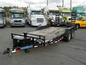 2017 load-trail 18 Foot Flatdeck Trailer with Loading Ramps