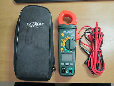 Extech True Rms Multimeter 430 Clamp Meter Ma200 Volt Detector In Case