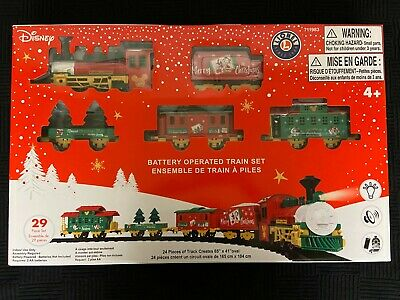 New 2020 Lionel 711983 Disney Christmas 29pc Train Set Battery Operated