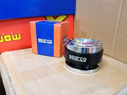 Sparco boss kit universal alum steering wheel quick release adapt