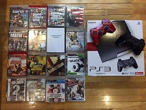 PS3 Slim 120GB + 16 Games