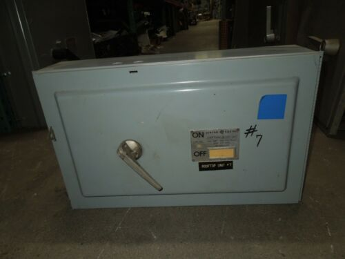 Ge Thfp365 Type Qmr 400a Single 3p 600v Fused Panelboard Switch W/ Hardware Used