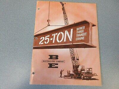 Rare Bucyrus-erie Crane Excavator Sales Brochure 1963